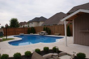 Rubber Surfacing Pool Before, Courtice