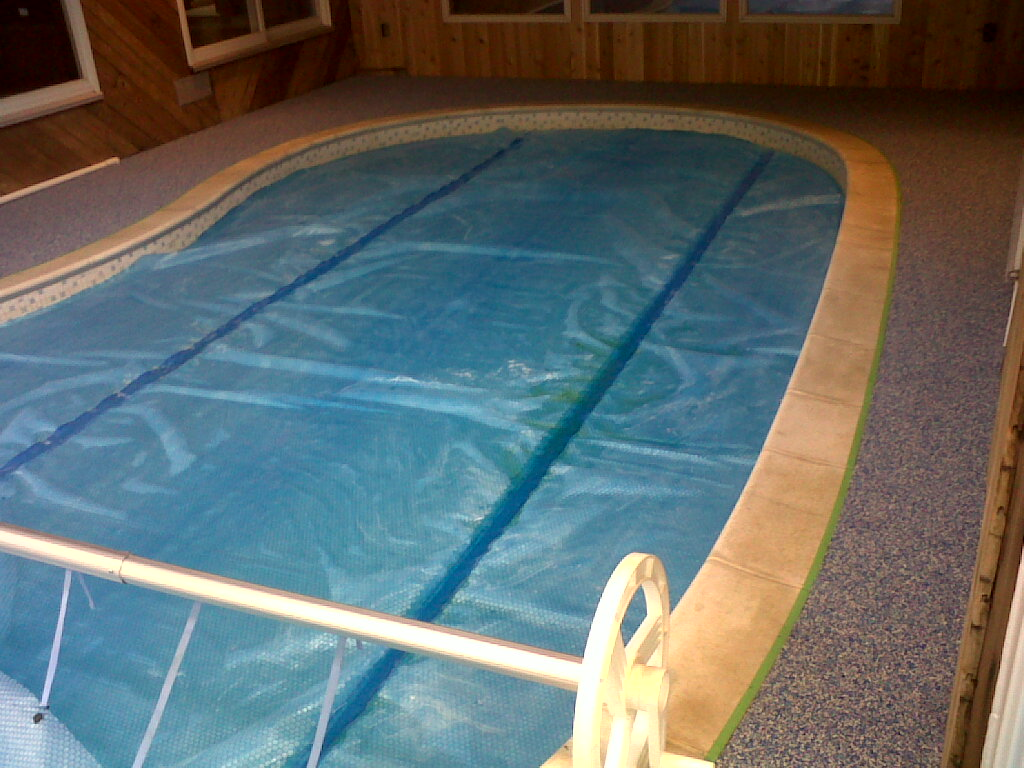 Indoor rubber pool